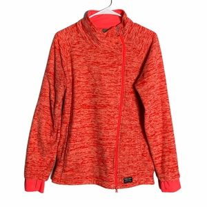SAUCONY woman's zip up jacket/sweater size Large